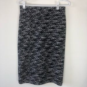 Vince Camuto pencil skirt black white size S